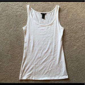 H&M Basic White Solid Sleeveless Tank Knit Top XS